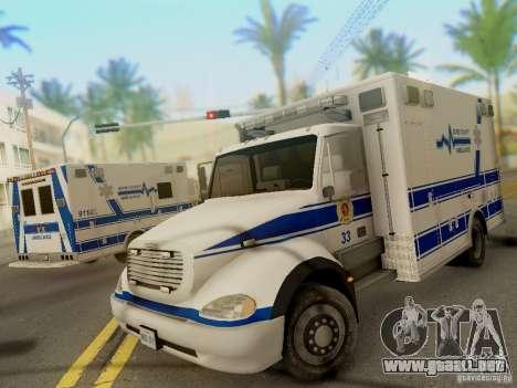 Freightliner Bone County Police Fire Medical para GTA San Andreas