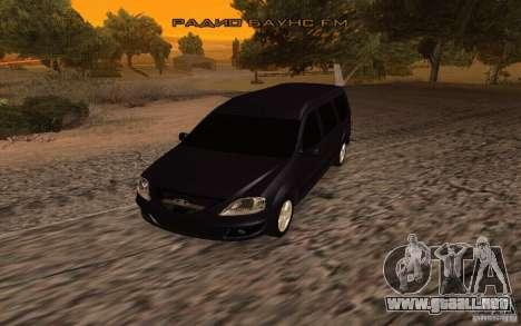 Lada Largus para GTA San Andreas vista posterior izquierda