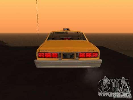 Chevrolet Caprice 1986 Taxi para la visión correcta GTA San Andreas