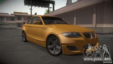 BMW 135i Coupe Road Edition para GTA San Andreas vista hacia atrás