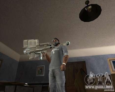 Jarra Mono Arsenal v1.2 para GTA San Andreas segunda pantalla