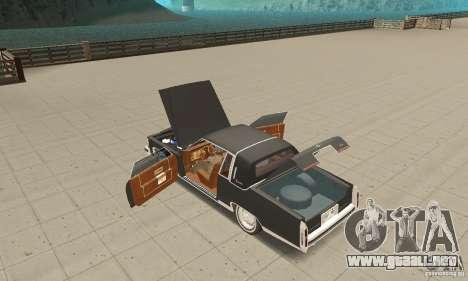 Cadillac Coupe DeVille 1985 para visión interna GTA San Andreas