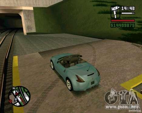 Nissan 370Z Roadster para GTA San Andreas left