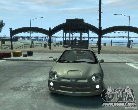 Dodge Neon 02 SRT4 para GTA 4 vista hacia atrás