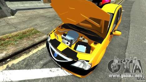 Dacia Logan Prestige Taxi para GTA 4 vista hacia atrás