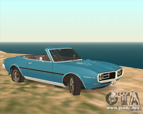 Pontiac Firebird Conversible 1966 para GTA San Andreas vista posterior izquierda