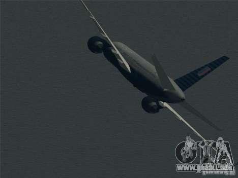 Boeing 757-200 United Airlines para la vista superior GTA San Andreas