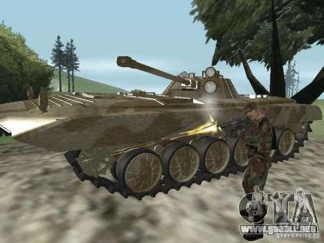 BMP-2 de CGS para GTA San Andreas vista hacia atrás