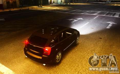 Dodge Caliber para GTA 4 vista hacia atrás