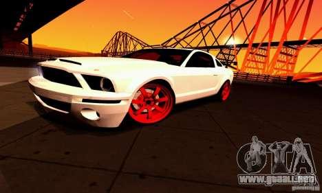 Shelby GT500 KR para vista inferior GTA San Andreas
