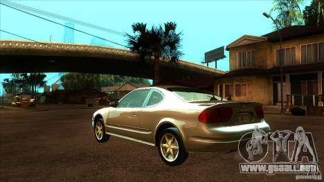 Oldsmobile Alero 2003 para GTA San Andreas vista posterior izquierda