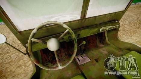 Jeep Willys [Final] para GTA 4 vista hacia atrás