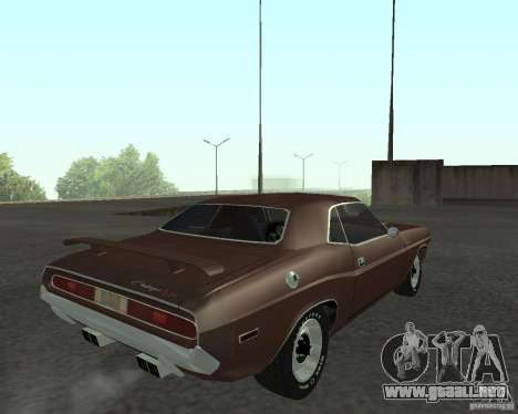 Dodge Challenger para GTA San Andreas left