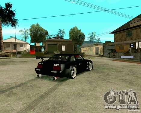 Hotring Racer Tuned para GTA San Andreas vista posterior izquierda
