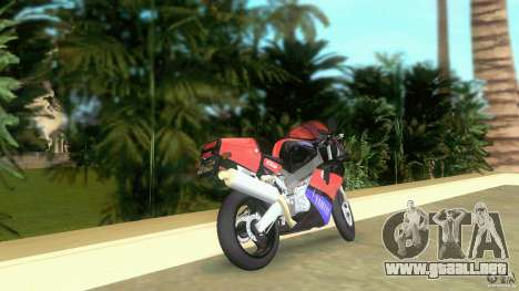 Yamaha FZR 750 black para GTA Vice City vista lateral izquierdo