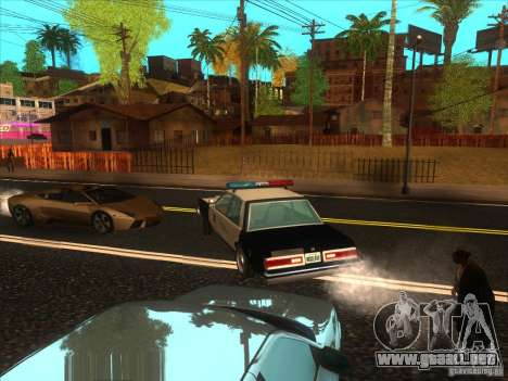 Dodge Diplomat 1985 LAPD Police para GTA San Andreas vista posterior izquierda