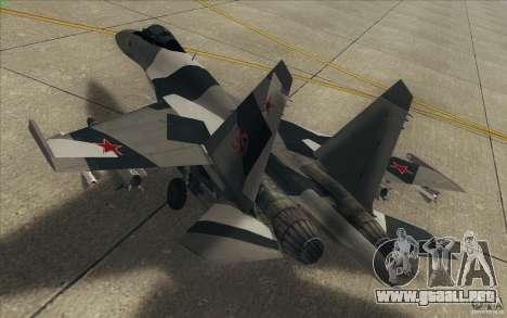 Su-35 BM v2.0 para vista inferior GTA San Andreas
