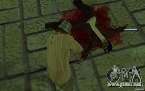 Mutant para GTA San Andreas quinta pantalla