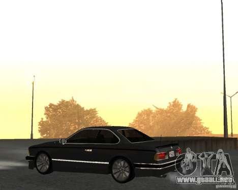 BMW M6 E24 para GTA San Andreas vista posterior izquierda