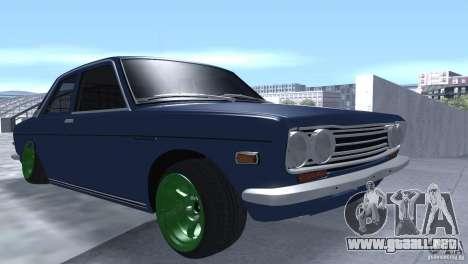 Datsun 510 Drift para GTA San Andreas vista hacia atrás