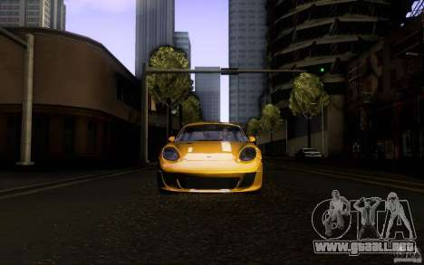 Ruf RK Coupe V1.0 2006 para la vista superior GTA San Andreas