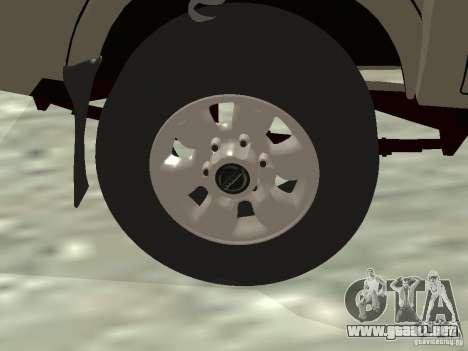 Nissan Frontier para la vista superior GTA San Andreas