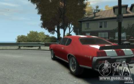 Pontiac GTO Hardtop 1968 v1 para GTA 4 Vista posterior izquierda