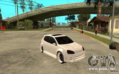 VW Golf 5 GTI Tuning para GTA San Andreas vista hacia atrás