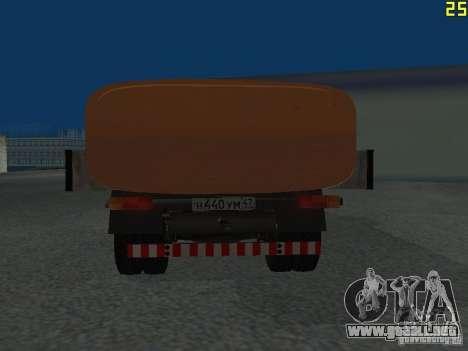 Ko-829 en beta chasis de camión ZIL-130 para la visión correcta GTA San Andreas