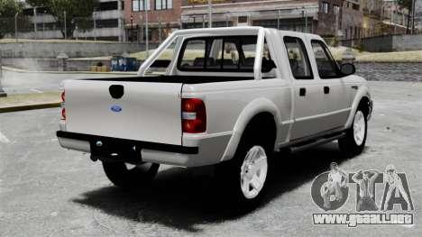 Ford Ranger 2008 XLR para GTA 4 Vista posterior izquierda