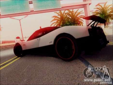 Pagani Zonda Cinque para vista inferior GTA San Andreas