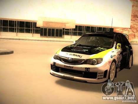 Subaru Impreza Gymkhana para GTA San Andreas left