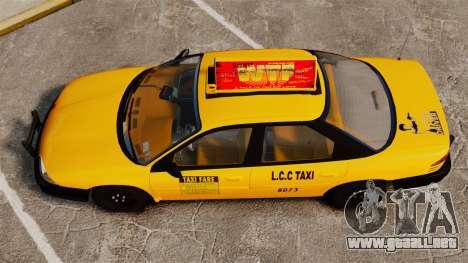 Dodge Intrepid 1993 Taxi para GTA 4 visión correcta