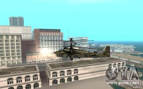 Ka-52 Alligator para GTA San Andreas vista posterior izquierda