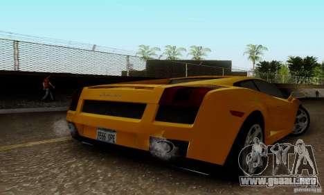 Lamborghini Gallardo para GTA San Andreas left
