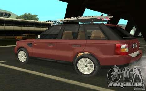 Land Rover Range Rover 2007 para la visión correcta GTA San Andreas