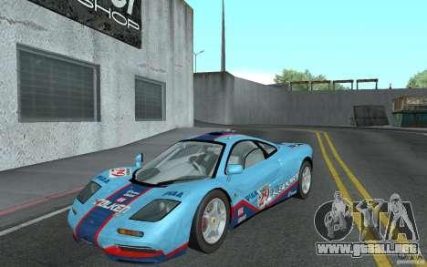 Mclaren F1 road version 1997 (v1.0.0) para GTA San Andreas