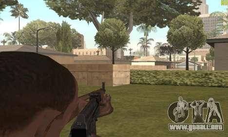 AKMS para GTA San Andreas quinta pantalla