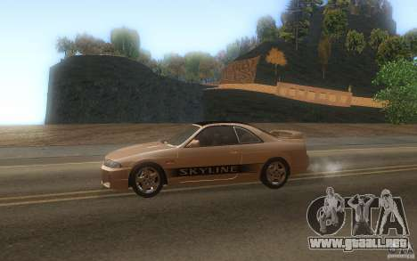 Nissan Skyline R33 GTS25t Stock para GTA San Andreas left