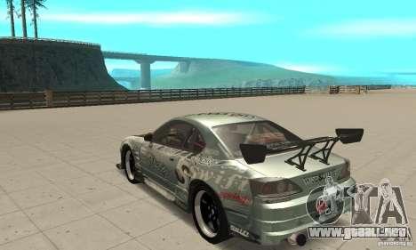 Nissan Silvia S15 [F&F3] para GTA San Andreas vista posterior izquierda