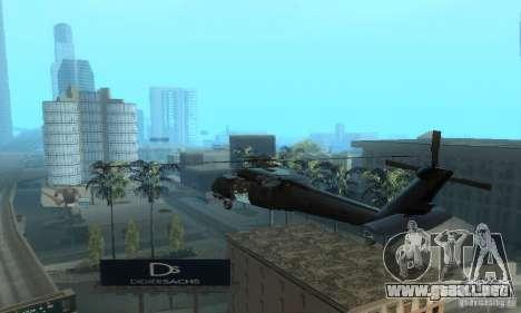 UH-60M Black Hawk para GTA San Andreas vista posterior izquierda