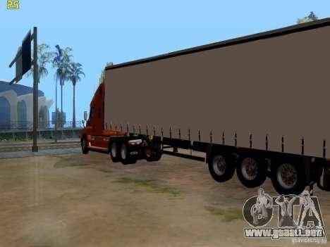 Freightliner Cascadia para GTA San Andreas vista posterior izquierda