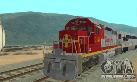 SD40 Santa Fe para GTA San Andreas