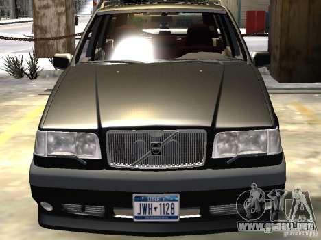 Volvo 850 R 1996 Rims 1 para GTA 4 vista desde abajo