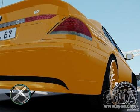 BMW Alpina B7 para GTA 4 visión correcta
