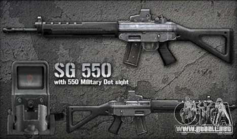 [Point Blank] SG550 para GTA San Andreas