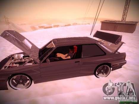 BMW M3 Drift para vista lateral GTA San Andreas