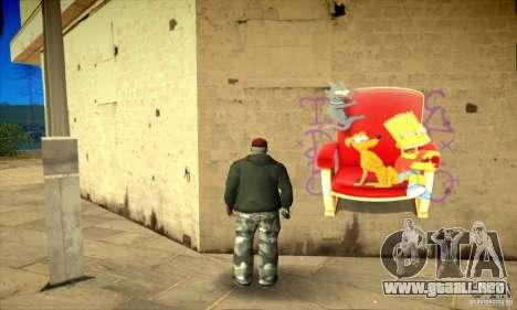 Simpson Graffiti Pack v2 para GTA San Andreas octavo de pantalla