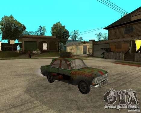 Bloodring Moskvich 412 para la visión correcta GTA San Andreas