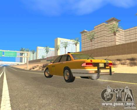 Taxi from GTAIV para GTA San Andreas left